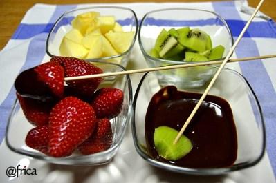 fondue frutas