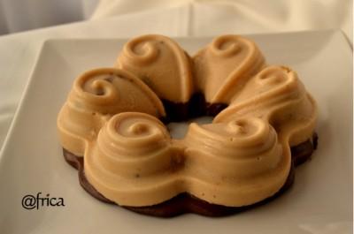 Pastel turron y chocolate