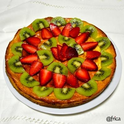 Tarta de Queso y frutas
